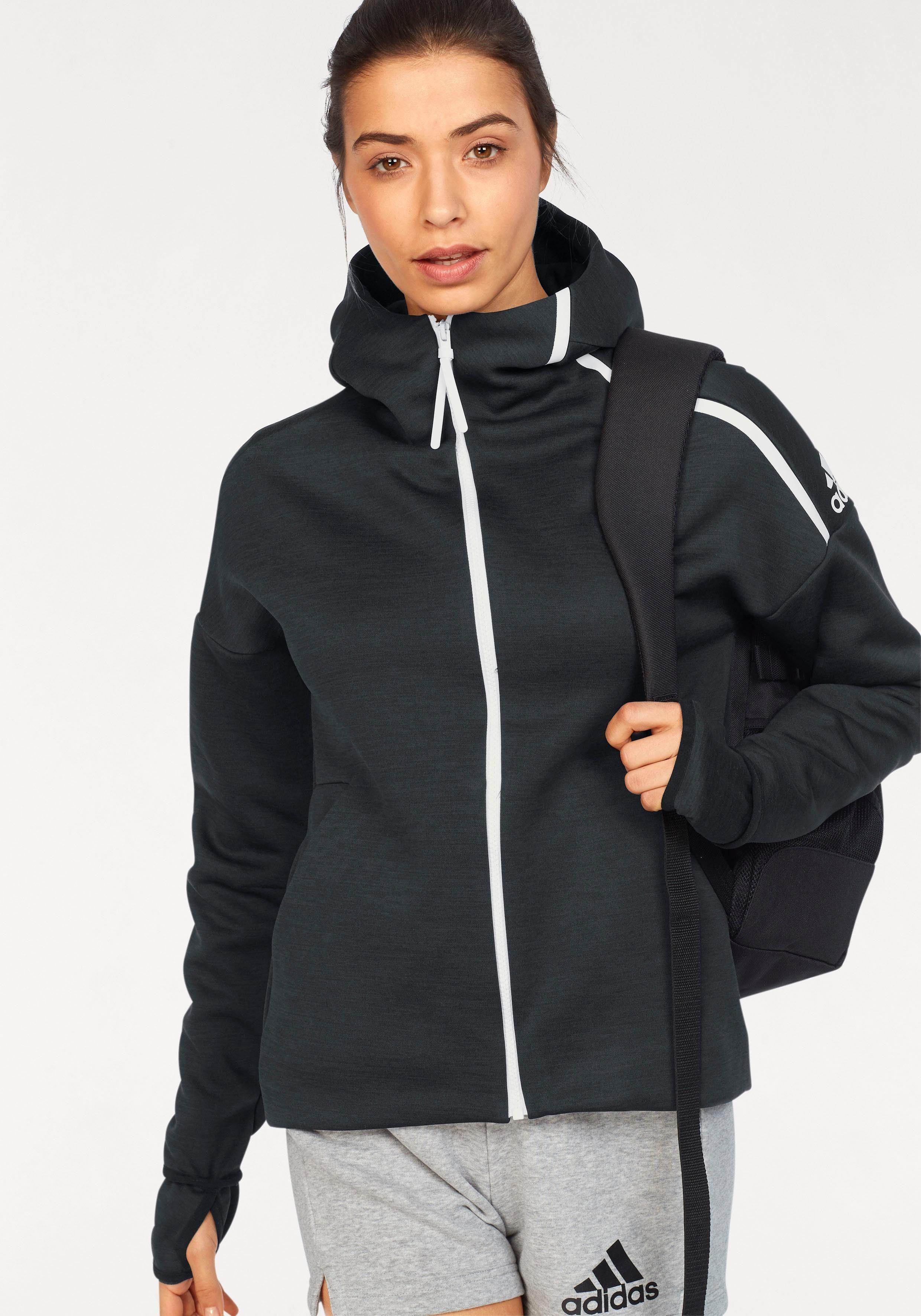 adidas Performance Trainingsjacke »WOMEN Z.N.E. FAST RELEASE HOODIE« auch in großen Größen online kaufen   OTTO