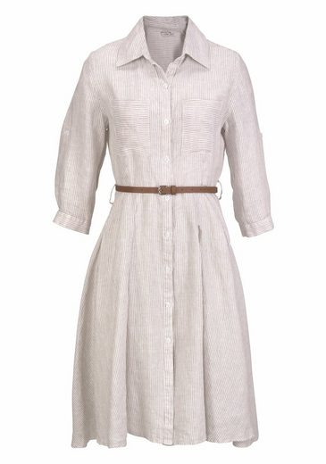 Clarina Blouses Dress, Made Of Linen With Extra Belt