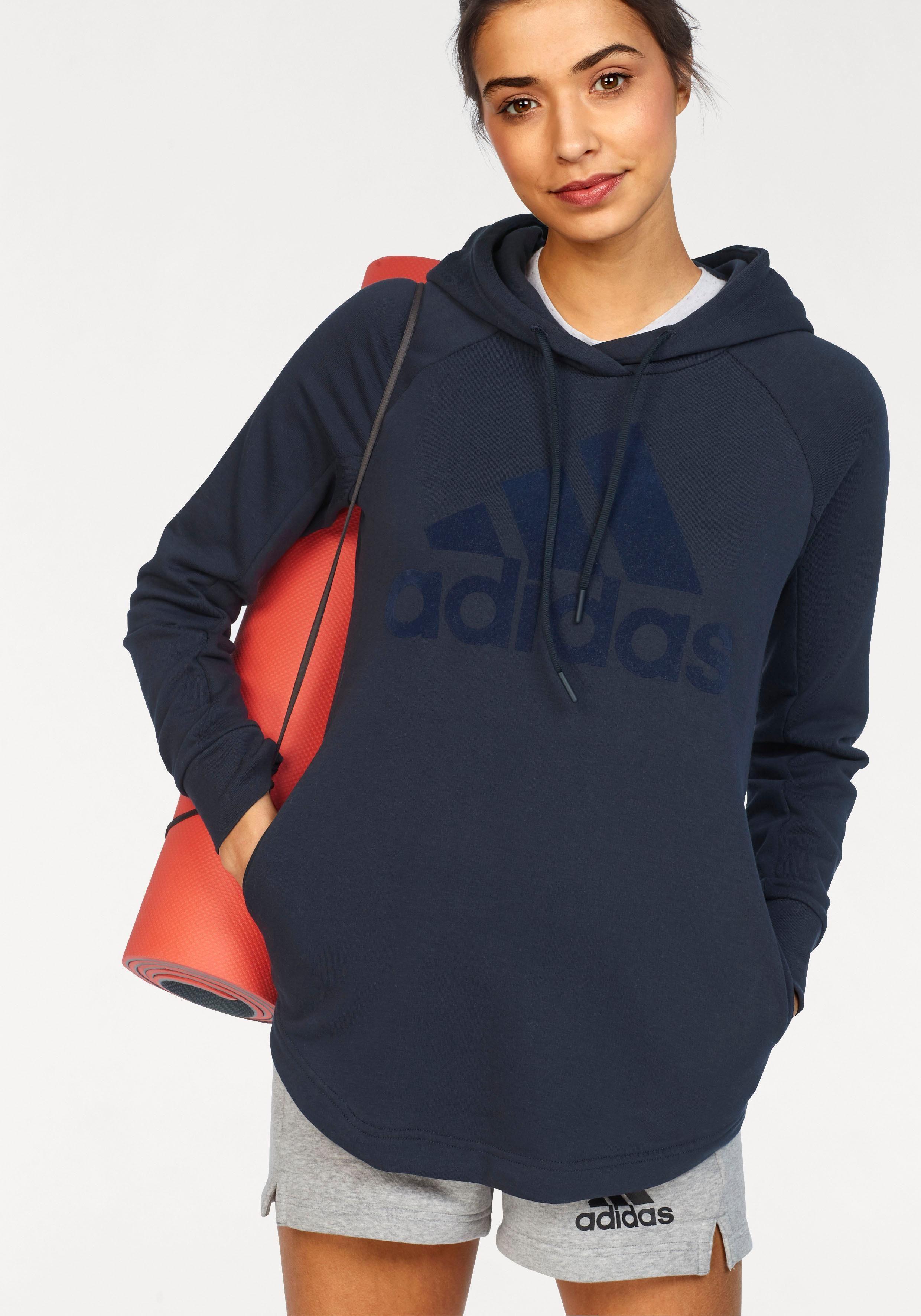 adidas Performance Kapuzensweatshirt »SOLID OPEN HEM HOODIE« auch in großen Größen online kaufen | OTTO