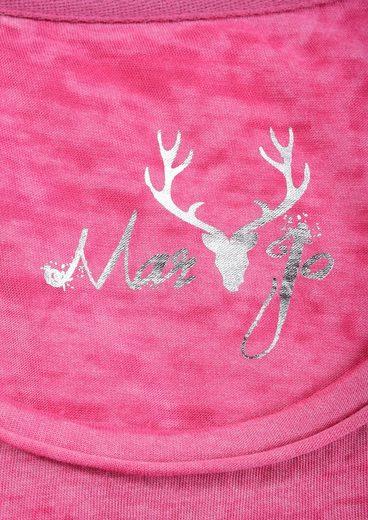 Marjo Trachtenshirt Damen mit Rundhals