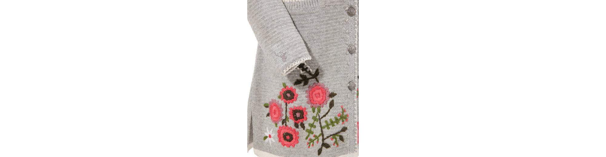 Billige Angebote Spieth & Wensky Trachtenstrickjacke Damen mit Blumen bestickt Billig Verkauf Angebote A7jPoWHL