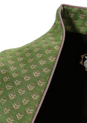 Turi Landhaus Dirndl midi mit gewebten Blümchen