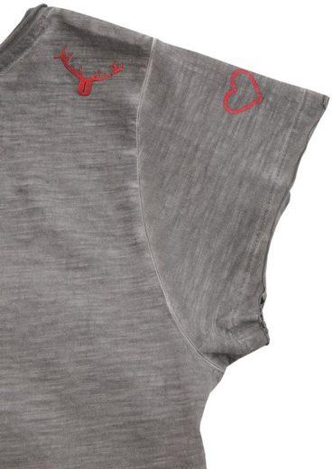 Hangowear Trachtenshirt Damen mit Print und Glitzersteinchen