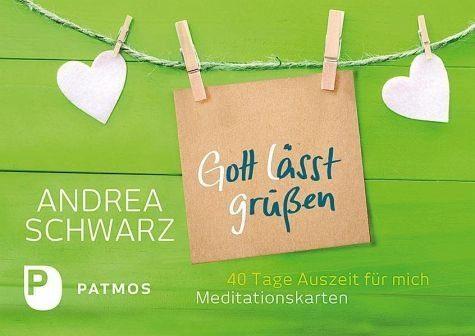 Broschiertes Buch »Gott lässt grüßen - 40 Meditationskarten«