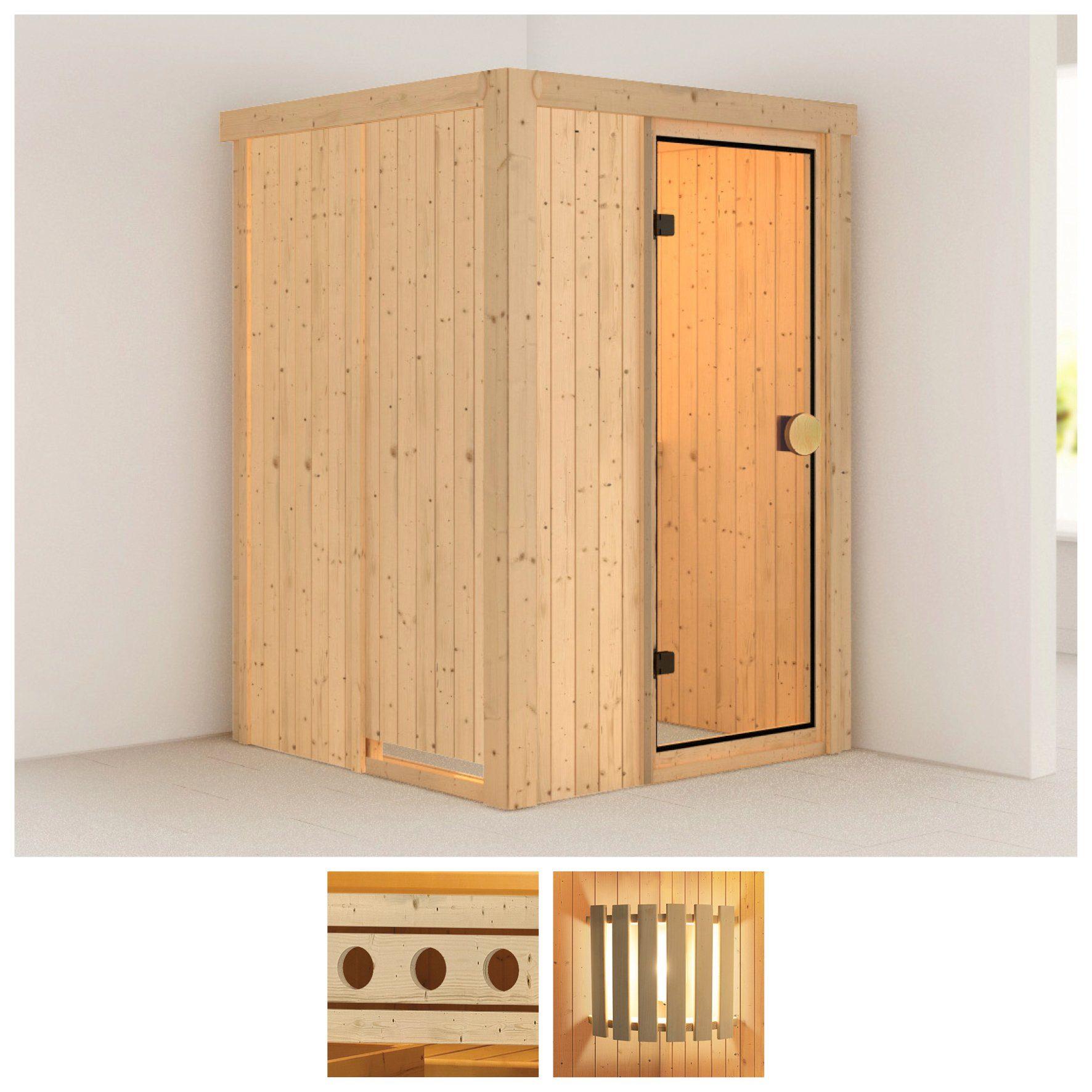 KONIFERA Sauna »Linda«, 136/136/198 cm, ohne Ofen