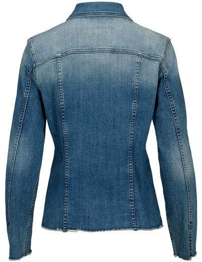 JETTE Jeansjacke, mit Used-Waschung