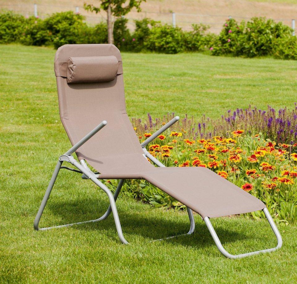 hanse gartenland wellnessliege xxl aus stahl textil inkl kopfkissen online kaufen otto. Black Bedroom Furniture Sets. Home Design Ideas