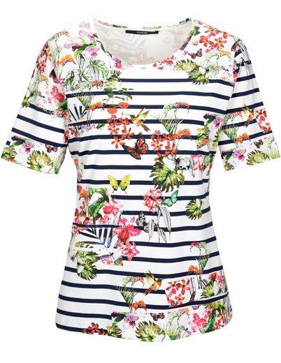 Clarina Rundhalsshirt, mit floralem Allover-Print