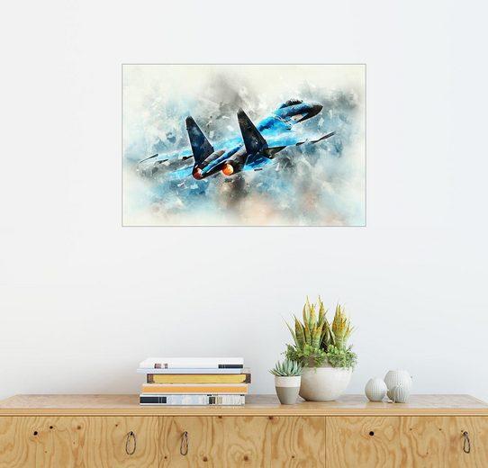 Posterlounge Wandbild - airpowerart »Flanker«