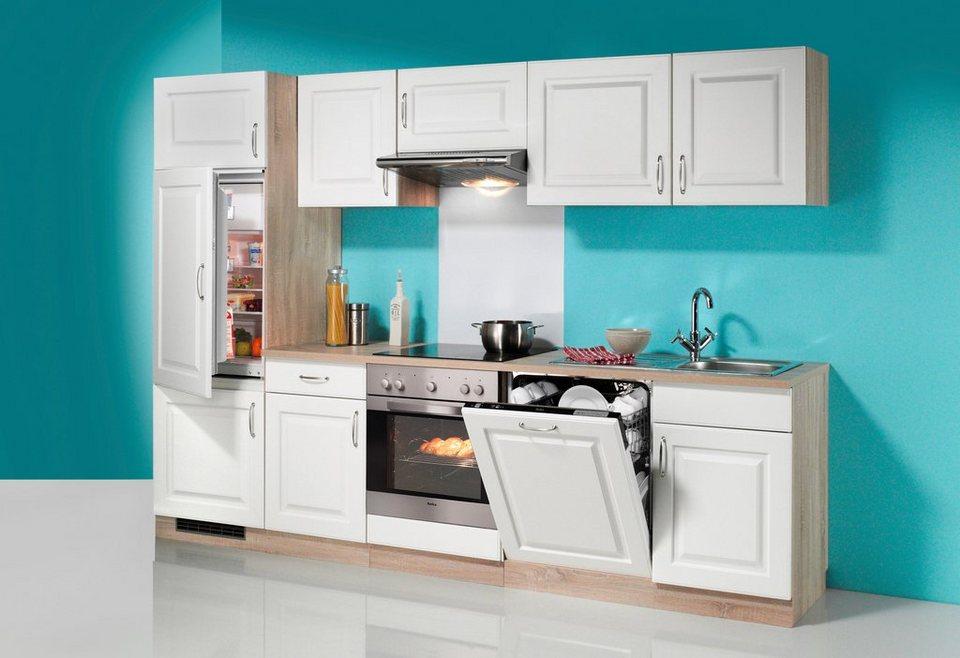 WIHO KÜCHEN Küchenzeile mit E-Geräten »Tilda«, Breite 280 cm, inkl.  Geschirrspüler online kaufen | OTTO