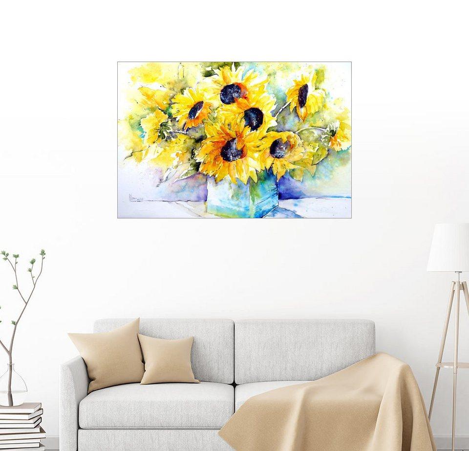 posterlounge wandbild brigitte d rr sonnenblumen in der vase online kaufen otto. Black Bedroom Furniture Sets. Home Design Ideas