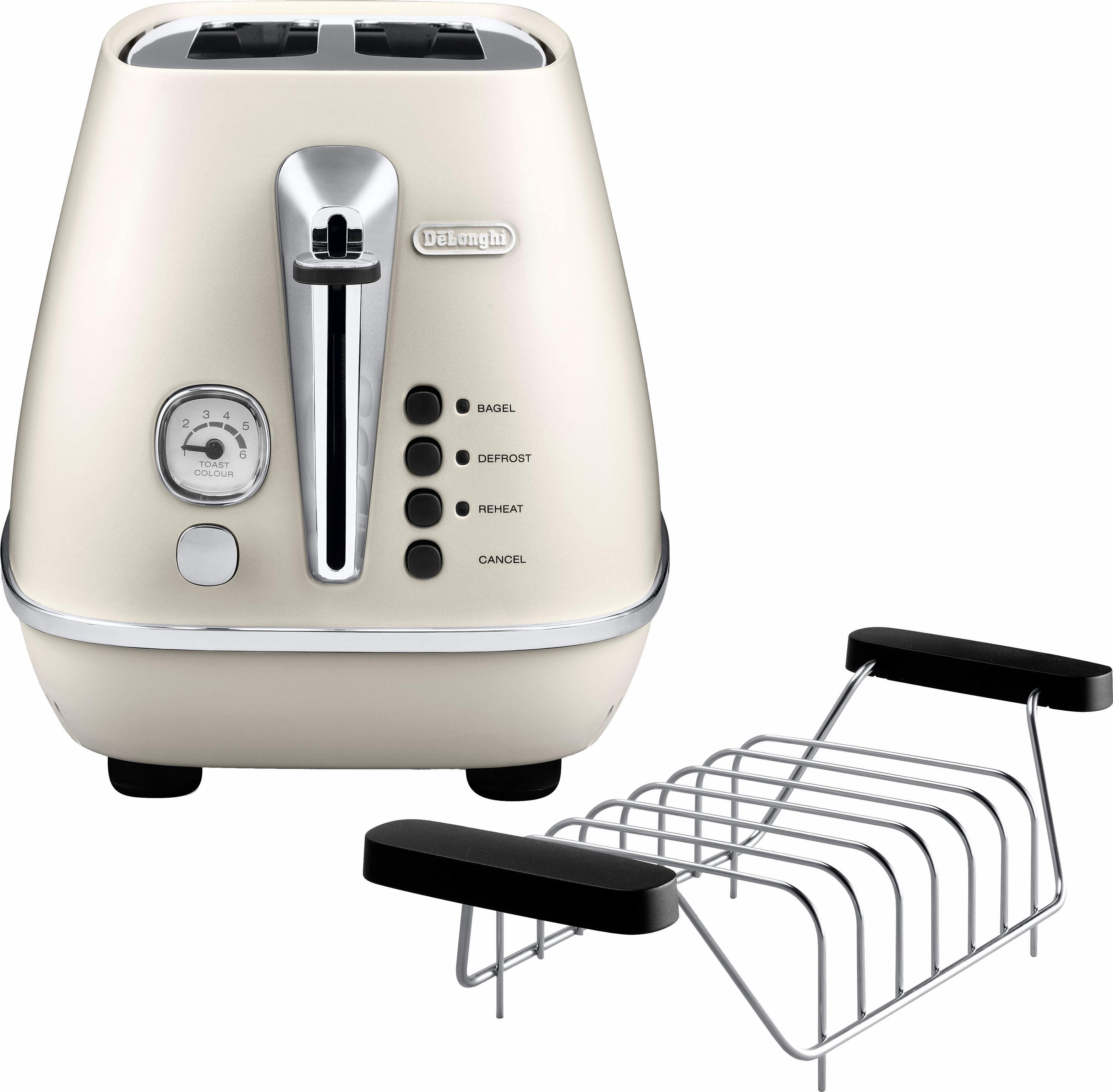 De'Longhi Toaster Distinta CTI 2103.W, 2 kurze Schlitze, für 2 Scheiben, 900 W