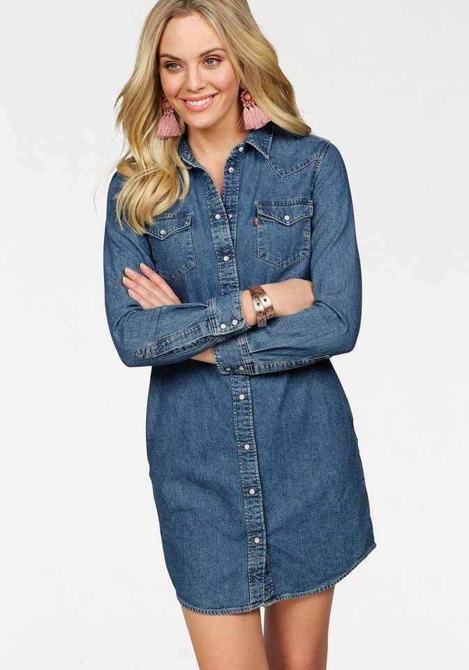 levi´s® -  Jeanskleid »Ultimate Western Dress« (Set, 1 tlg., mit Bindeband) Mit Knopfleiste im Jeanshemd-Style