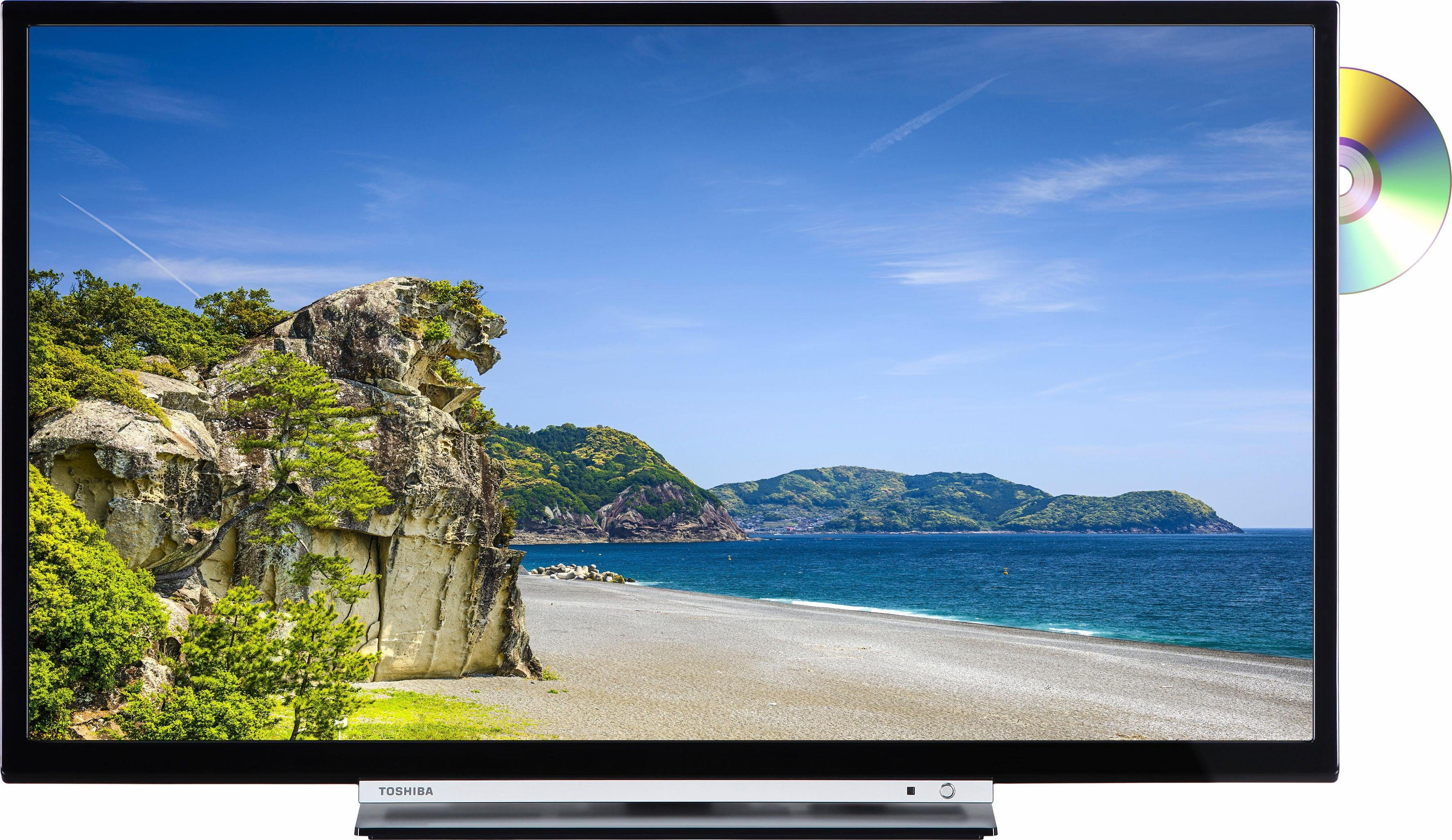 Toshiba 32D3763DA LED-Fernseher (81 cm/32 Zoll, HD-ready, Smart-TV, integrierter DVD Player)