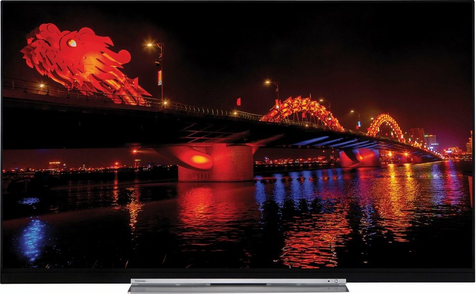 toshiba 55u7763dg led fernseher 140 cm 55 zoll 4k ultra. Black Bedroom Furniture Sets. Home Design Ideas