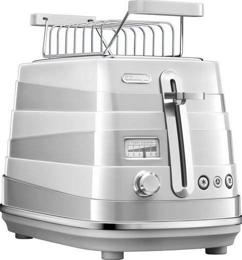 De'Longhi Toaster Avvolta CTA 2103.W, 2 kurze Schlitze, für 2 Scheiben, 900 W