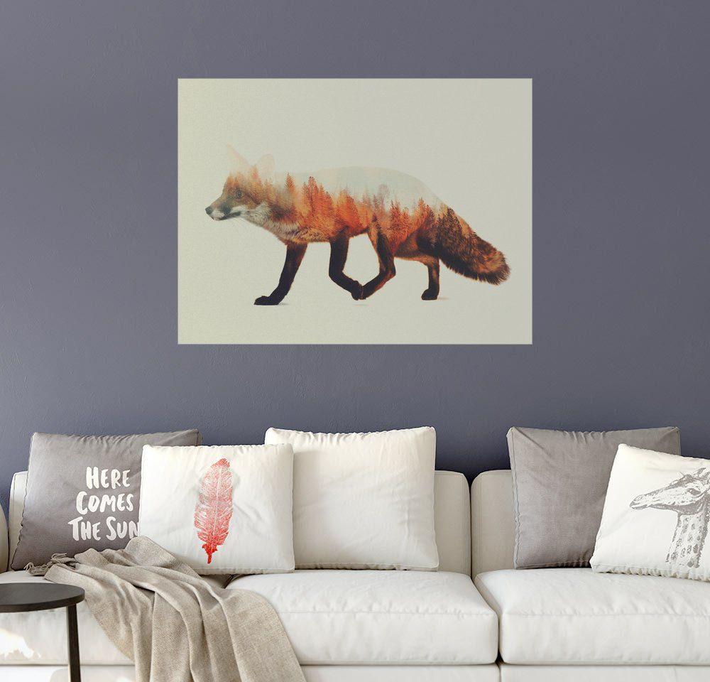 Posterlounge Wandbild - Andreas Lie »Norwegische Wälder im Fuchs«