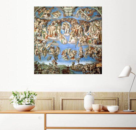 Posterlounge Wandbild - Michelangelo »Das Jüngste Gericht«