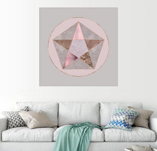 Posterlounge Wandbild - Andrea Haase »Rose Gold Pentagon«
