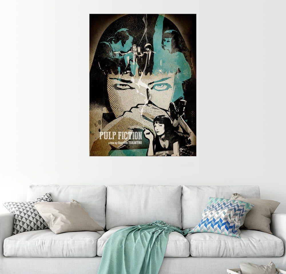 Posterlounge Wandbild - Albert Cagnef »Pulp Fiction« | Dekoration > Bilder und Rahmen > Bilder | Holz | Posterlounge