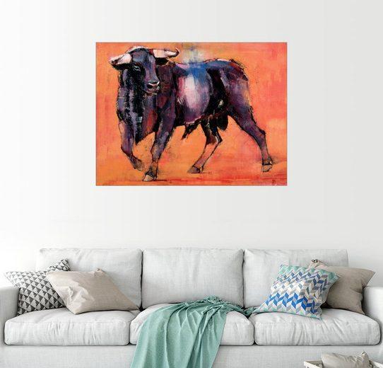 Posterlounge Wandbild - Mark Adlington »schwarzer Stier«