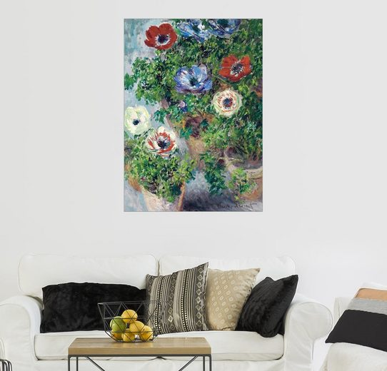 Posterlounge Wandbild - Claude Monet »Anemonen in einer Vase«