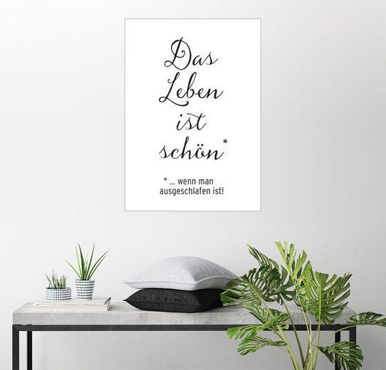Posterlounge Wandbild - Amy and Kurt Berlin »Das Leben ist schön«
