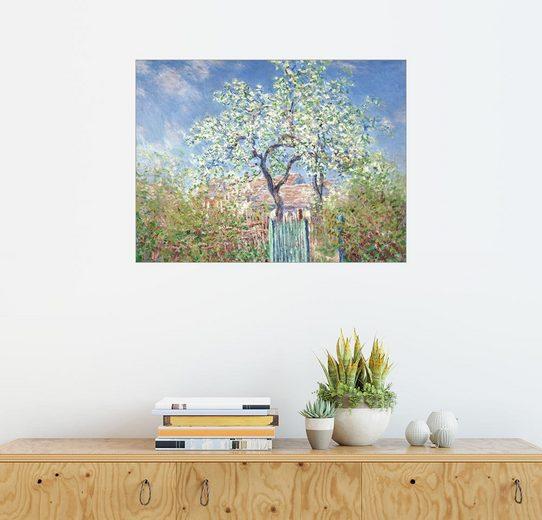 Posterlounge Wandbild - Claude Monet »Gartentor in Vetheuil«
