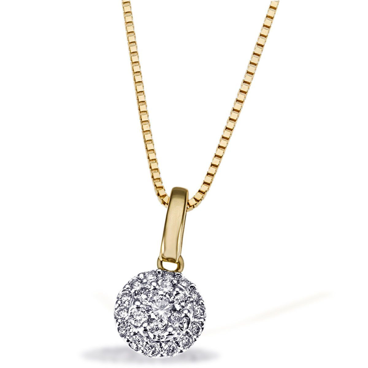 goldmaid Collier 585 Gelbgold 21 Brillanten 0,25 ct.