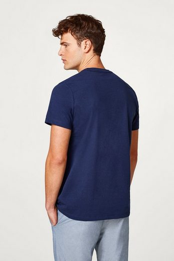 Esprit Jersey T-shirt With Woven Chest Pocket