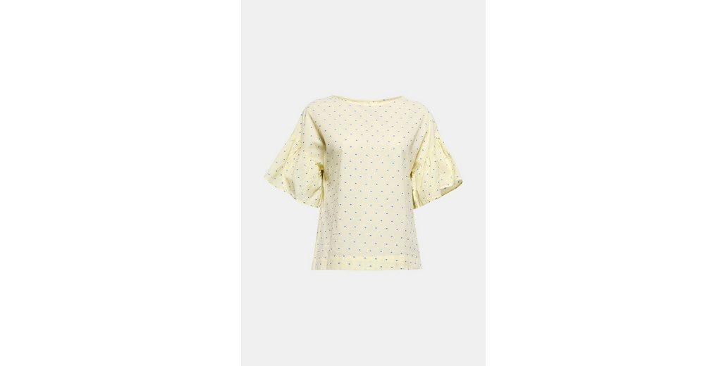 EDC BY ESPRIT Bluse mit feinem Print, aus 100% Baumwolle
