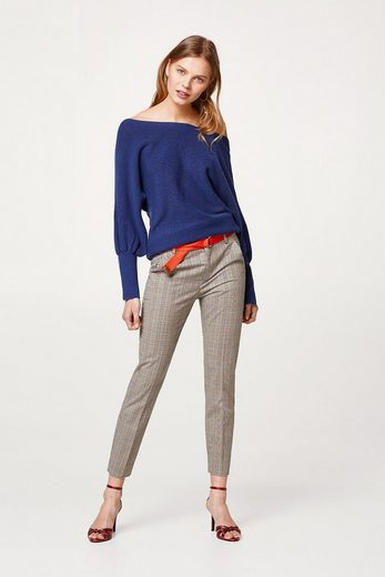 ESPRIT Off-Shoulder-Sweater aus Rippenstrick