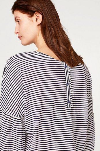 ESPRIT Gestreifte Bluse mit Rüschenärmeln