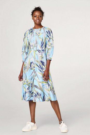 EDC BY ESPRIT Baumwoll-Kleid mit Blumen-Print