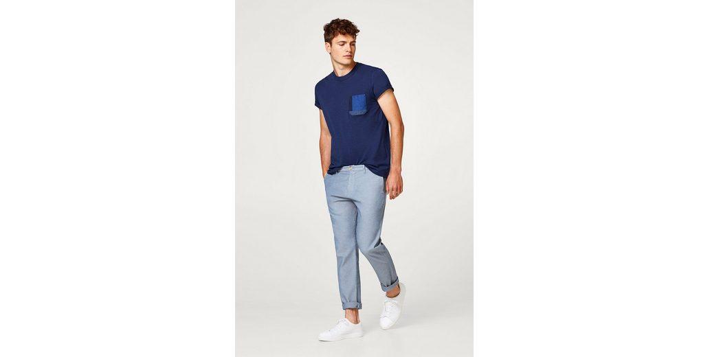 ESPRIT Jersey-Shirt mit gewebter Brusttasche 2018 Unisex In Deutschland Online Online-Shopping Online-Verkauf NmQnLjwq3