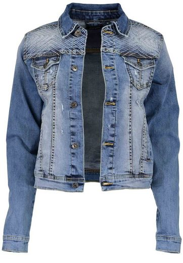 Blue Seven Denim Jacket With Wash Effects