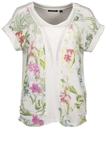 Blue Seven T-Shirt mit zartem Blütenmuster
