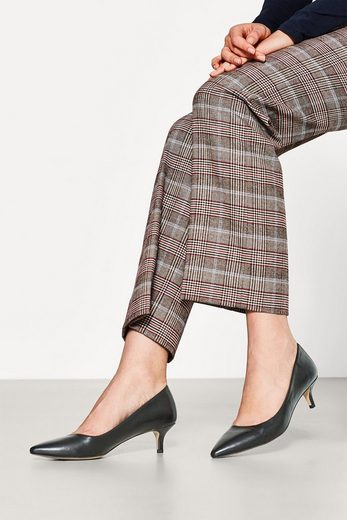 ESPRIT Pumps mit Kitten Heel, in Leder-Optik
