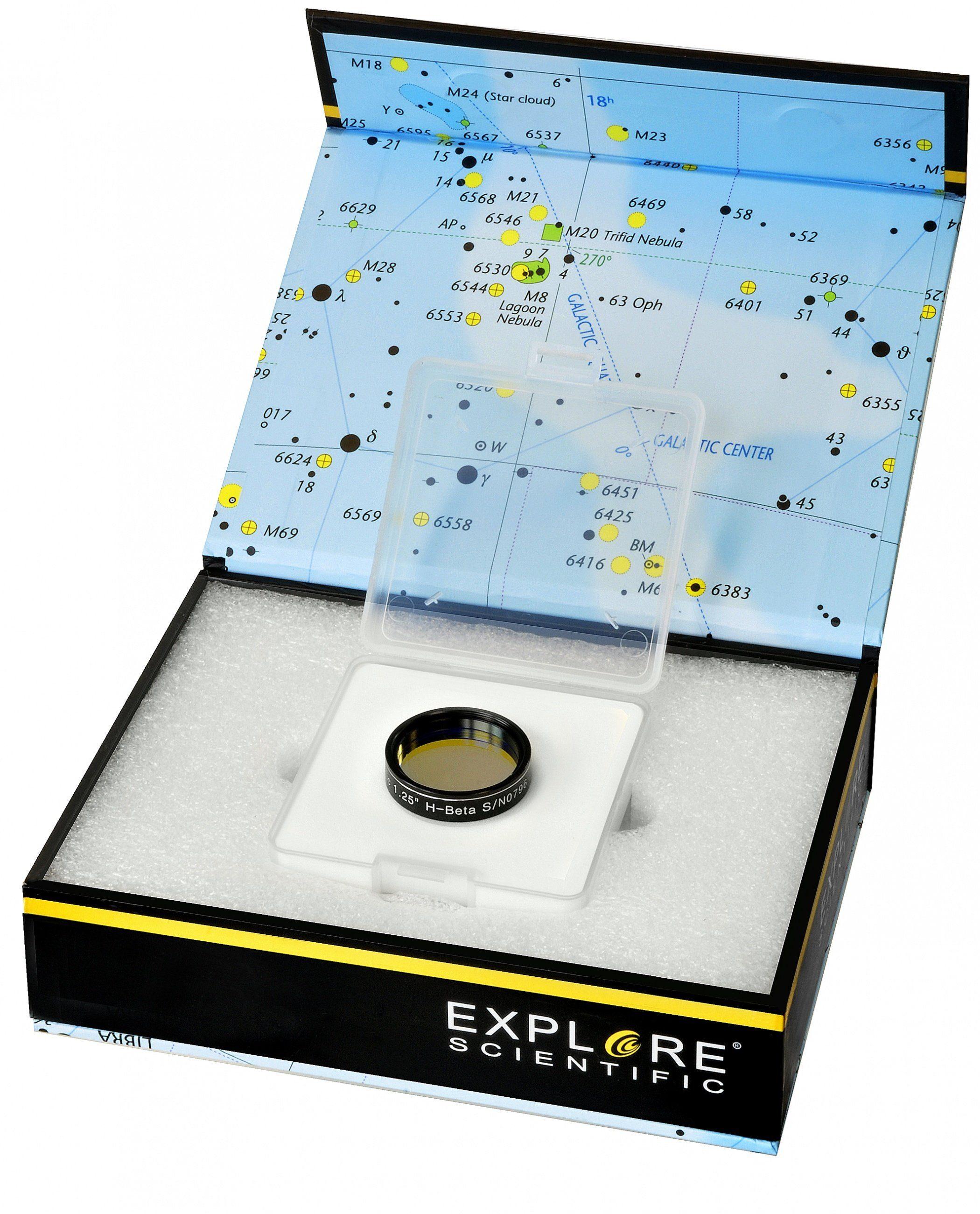 "Explore Scientific Filter »1,25"" H-Beta Nebelfilter«"