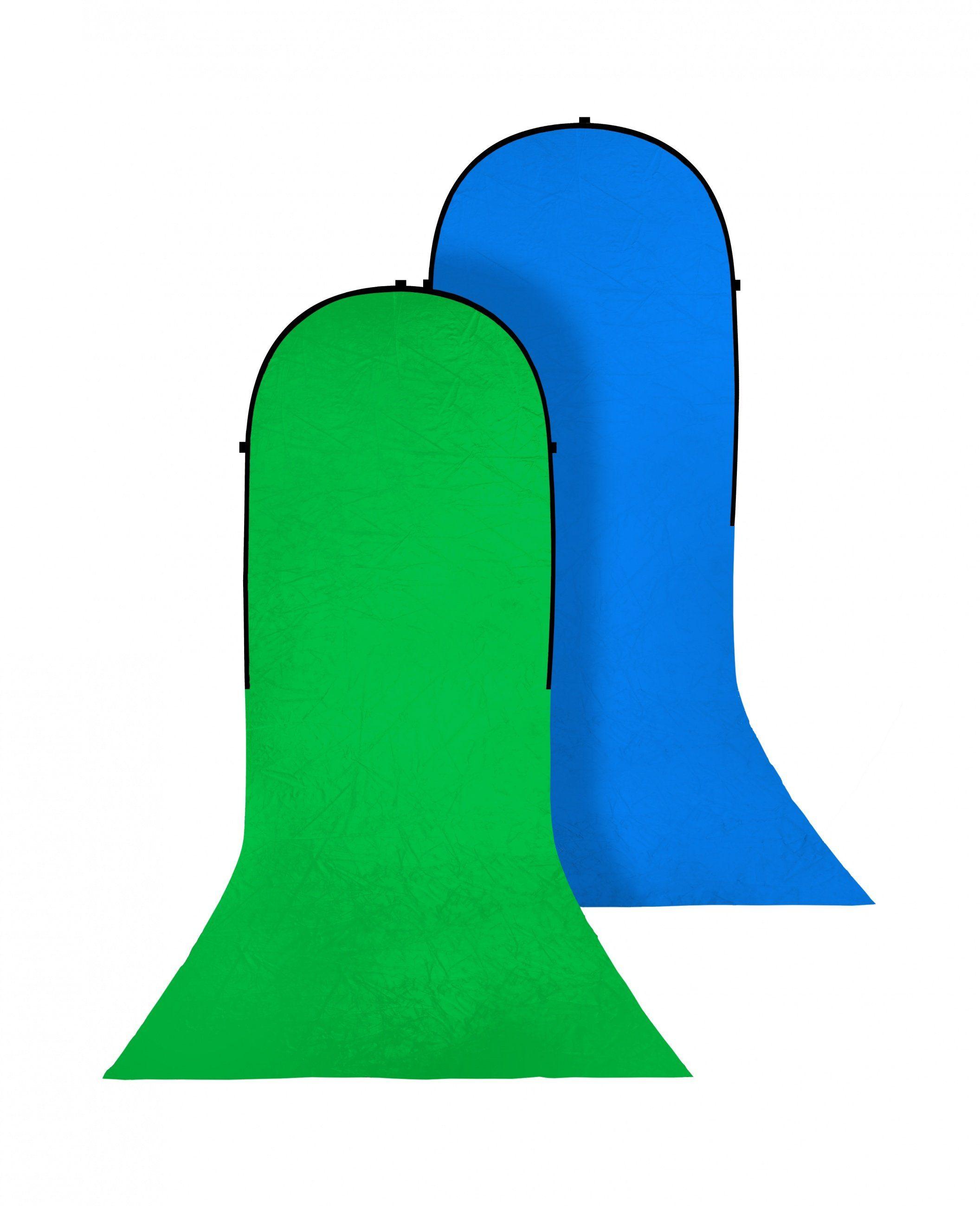 Bresser Fotostudio »Falthintergrund mit Schleppe grün/blau 180x240«