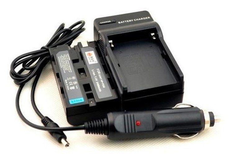 Bresser Akku »Ladegerät + 2x Akku NP-F550 kompatibel«