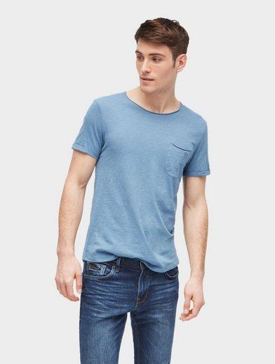 Tom Tailor Denim Shirt Basic T-shirt With Chest Pocket