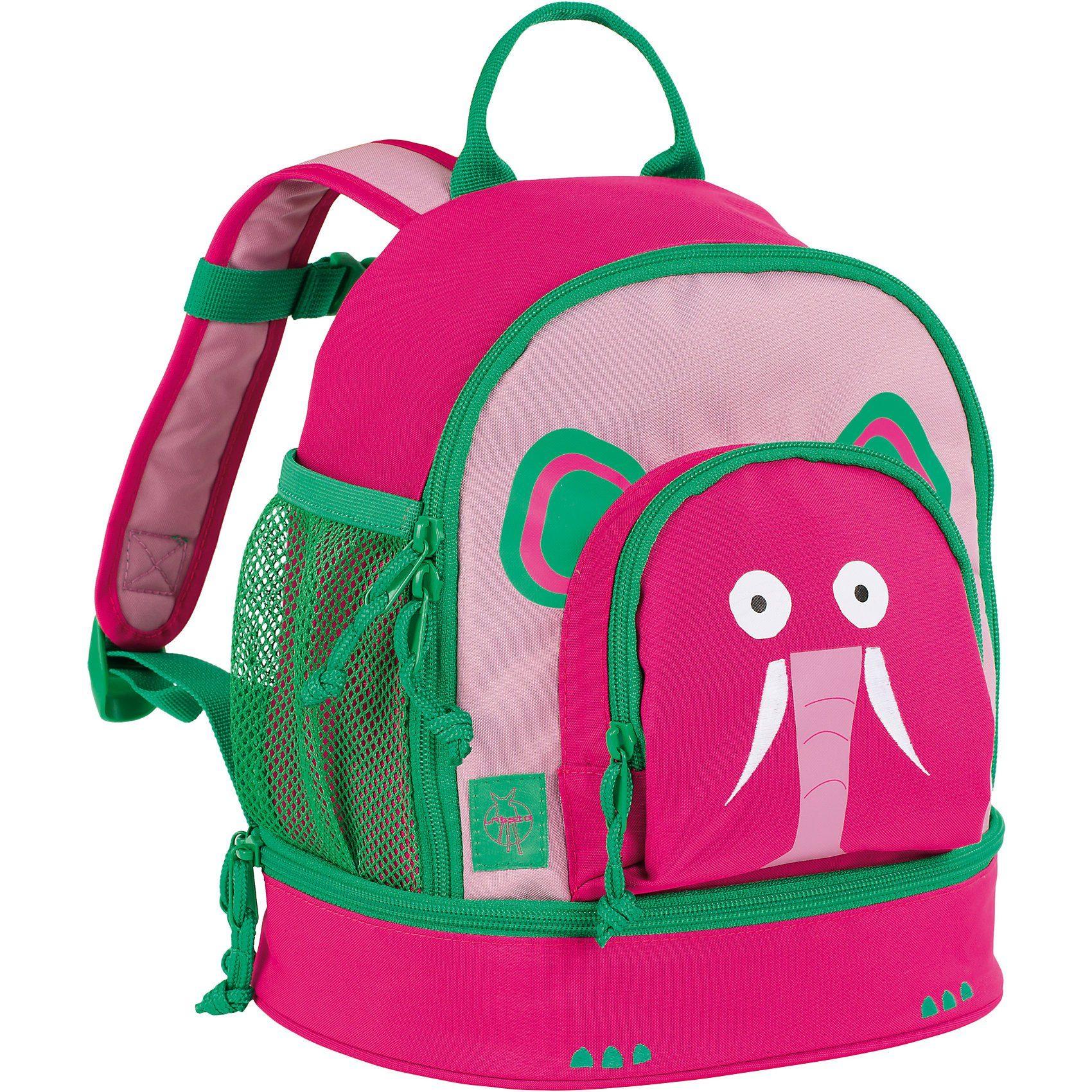 Lässig Kindergarten-Rucksack 4Kids, Mini Backpack, Wildlife Elephan