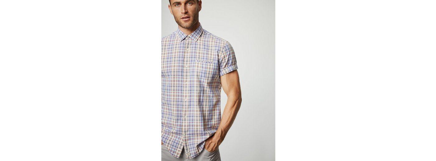 PIERRE CARDIN Hemd mit Seersucker-Struktur, kariert - Modern Fit