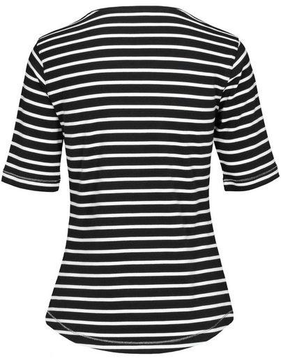 Clarina Rundhalsshirt, mit Ringelmuster
