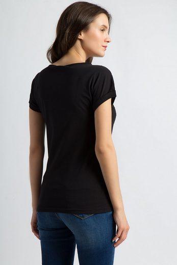 Finn Flare T-Shirt mit feinen Glitzersteinen