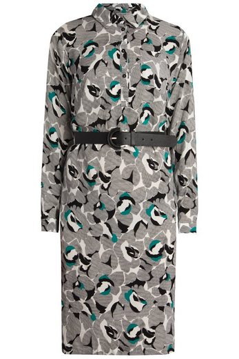 Finn Flare Kleid mit abstraktem Blumenmuster
