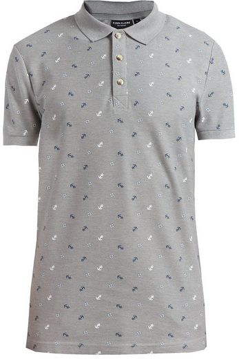 Finn Flare Poloshirt mit Alloverprint
