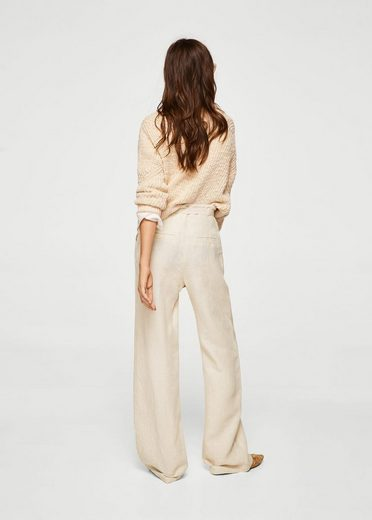 Mango Linen Trousers With Belt