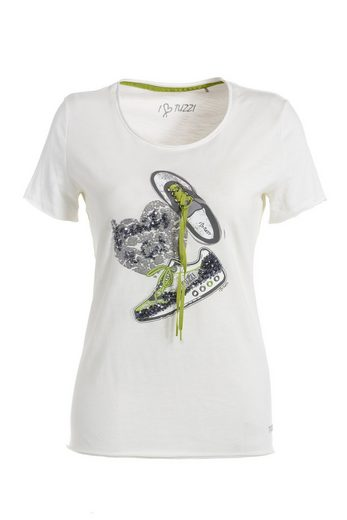 TUZZI Top-TShirt Freches T-Shirt mit Sneakermotiv